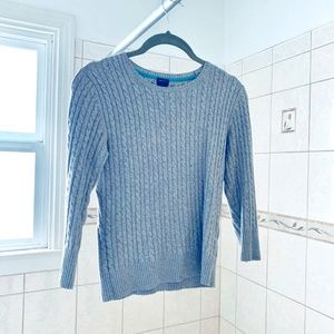 100% Cotton Sweater Top XS Slim Fit - 3/4th Sleeve